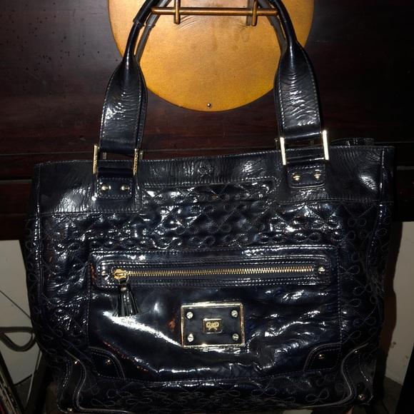 Anya Hindmarch Handbags - Anya Hindmarch Black Patent Handbag